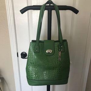 Franco Sarto Apple Green Faux Leather Shoulder Bag